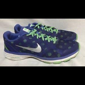 Nike Dual Fusion TR Run Shoes Polka Dot Blue/Green